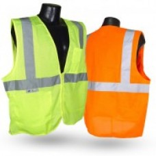 Radians SV2Z Economy Class 2 Solid Vest with Zipper Closure